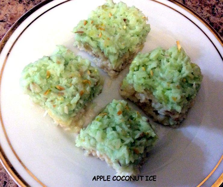 Healthy Apple Coconut Ice