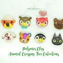 8 Animal Crossing Character Faces From Polymer Clay