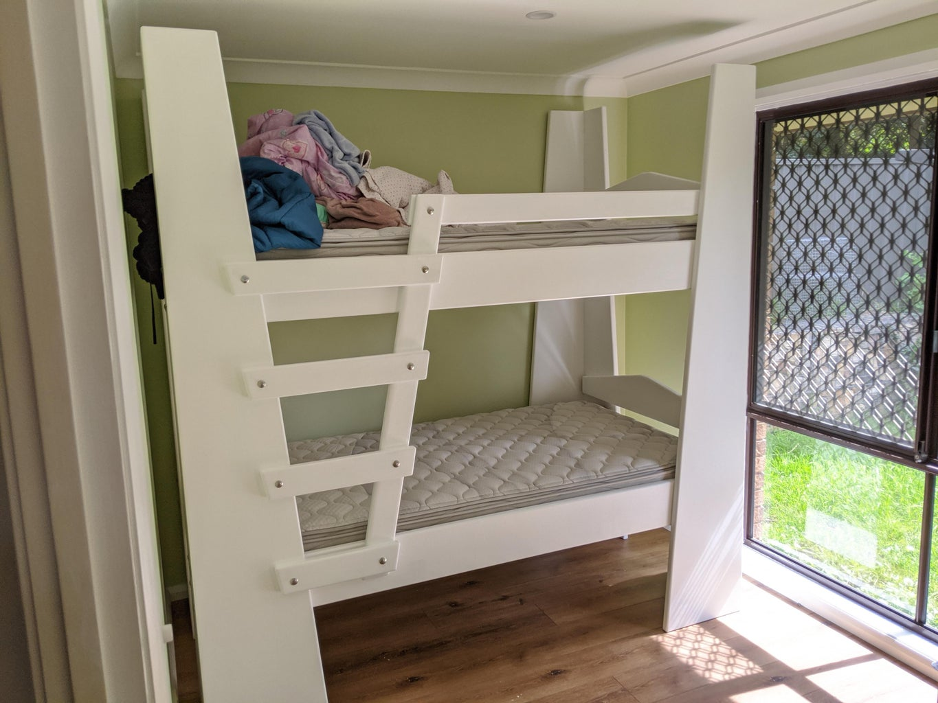 Plywood King Single Bunk Beds Using Materials From Bunnings