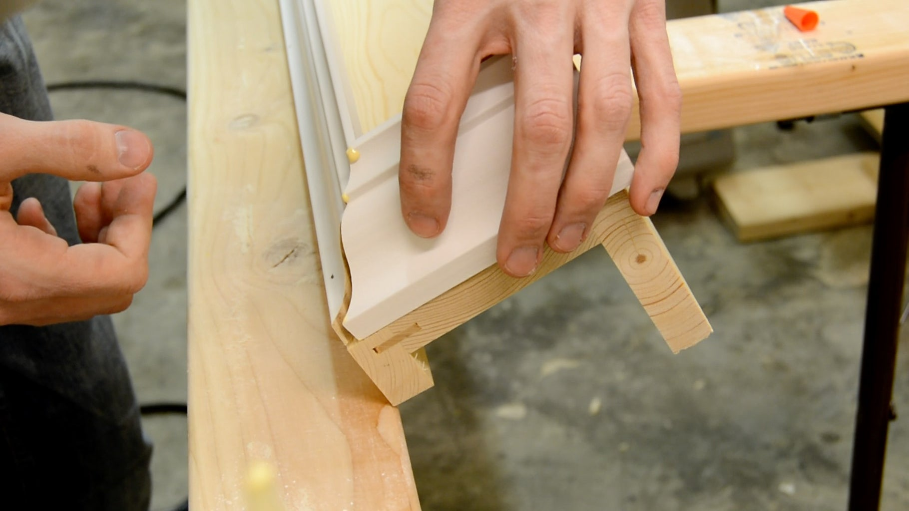 Cut and Attach Crown Molding