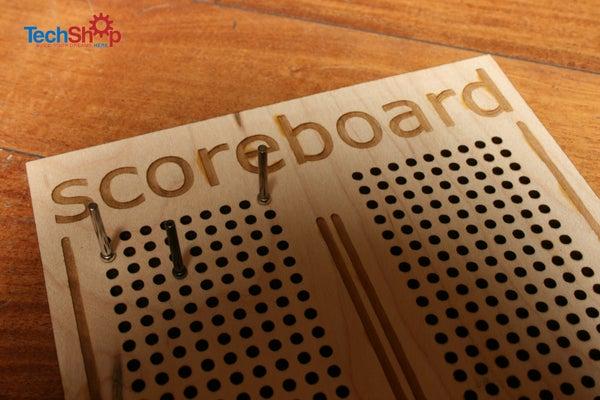 Lasercut Cribbage-style Scoreboard