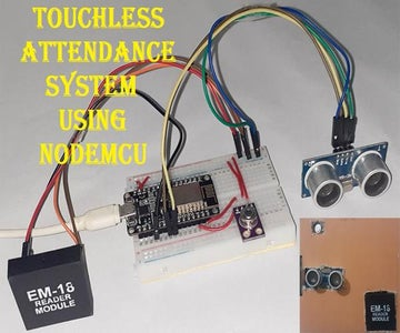 Temperature Based Touchless Attendance System Using NodeMCU and MLX90614 Infrared Thermometer