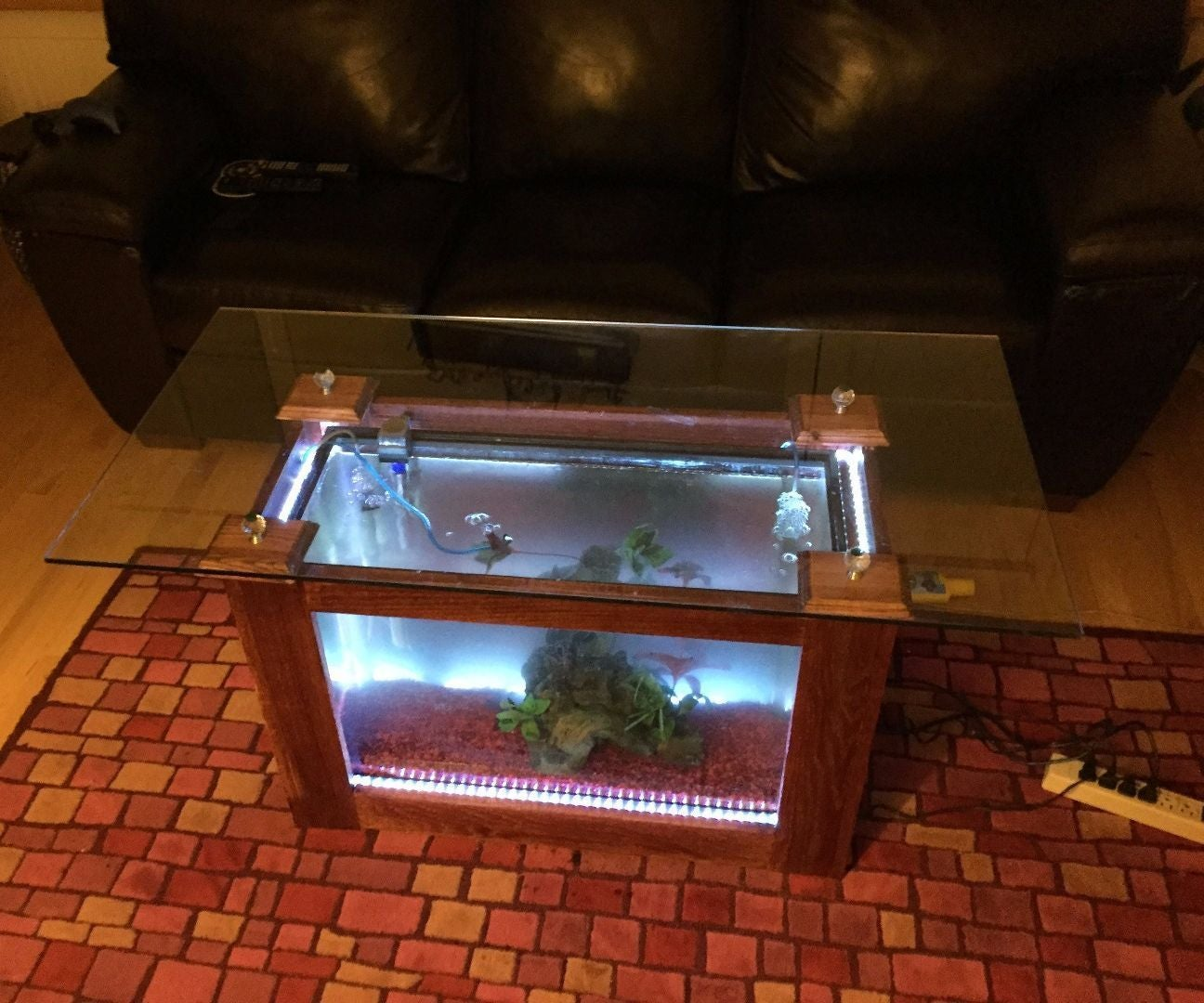 Fish Tank Coffee Table 6 Steps With Pictures Instructables