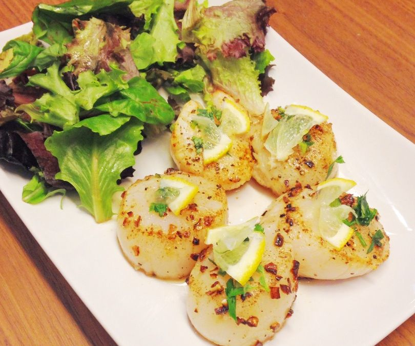 Garlic and Herb Seared Scallops
