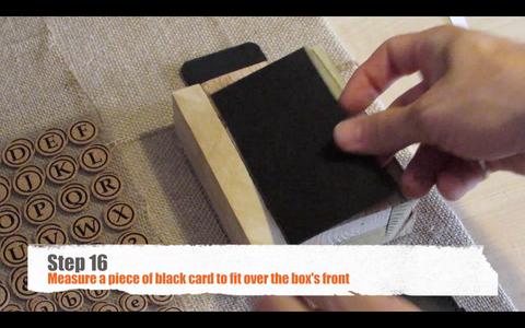 Finishing the Menu Card Holder