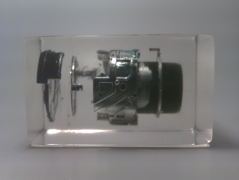 Lens Aperture Exploded in Resin
