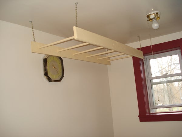 How to Make a Inside Hanging Clothes Rack