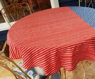 Patriotic Tablecloth for a Round Table
