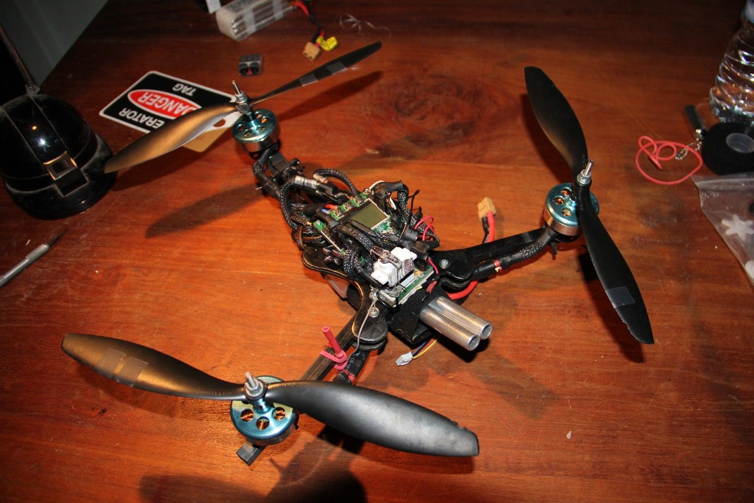 Scratch Built Fireball Shooting Tricopter