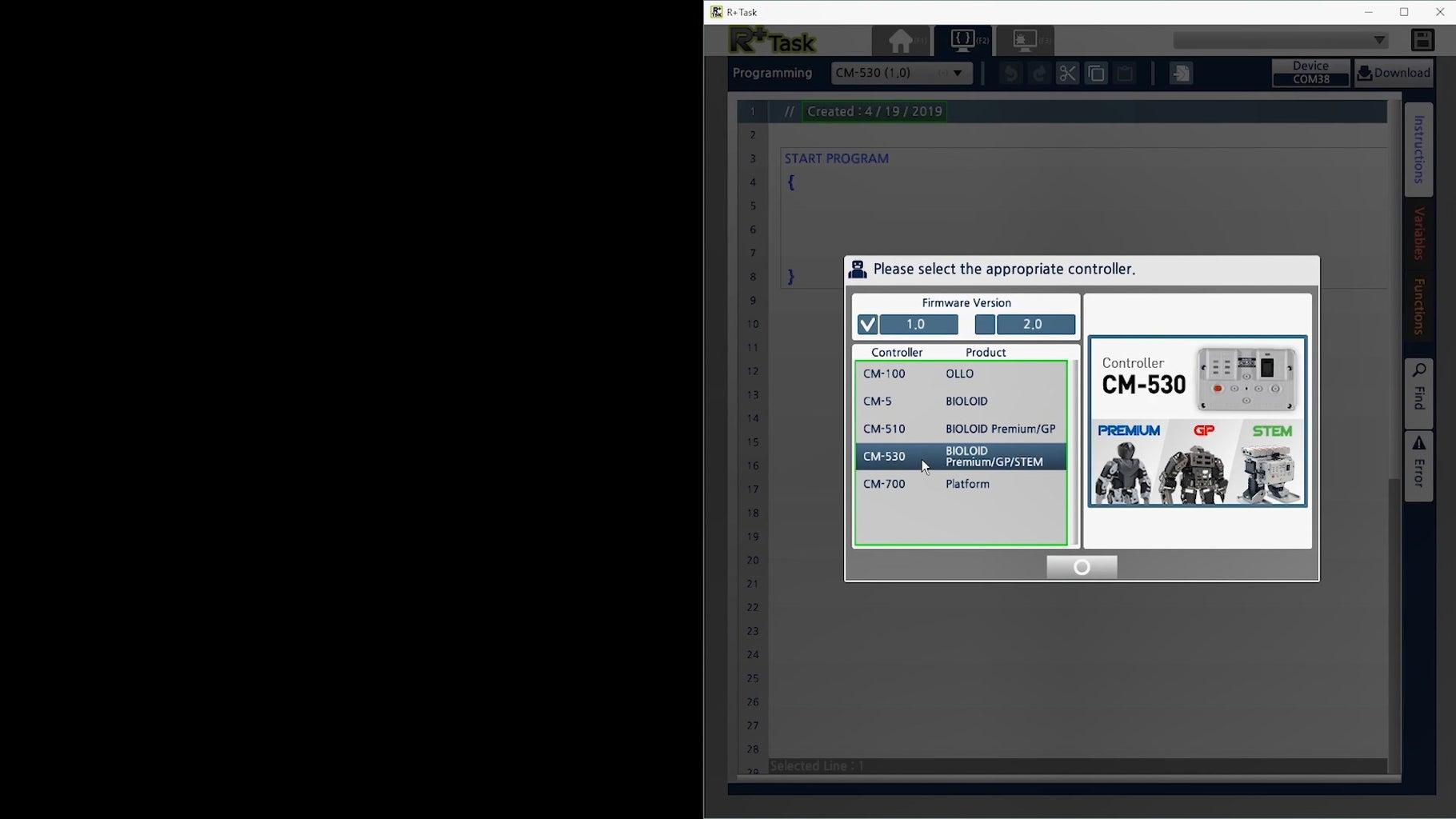 Monitor Program for the Sensor