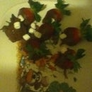 Chocolate Strawberries With Mini Marshmallows.