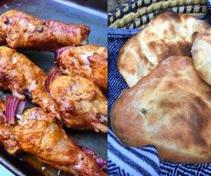 Tandoori Chicken & Naan in a Tandoor