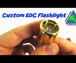Brass Everyday Carry Flashlight