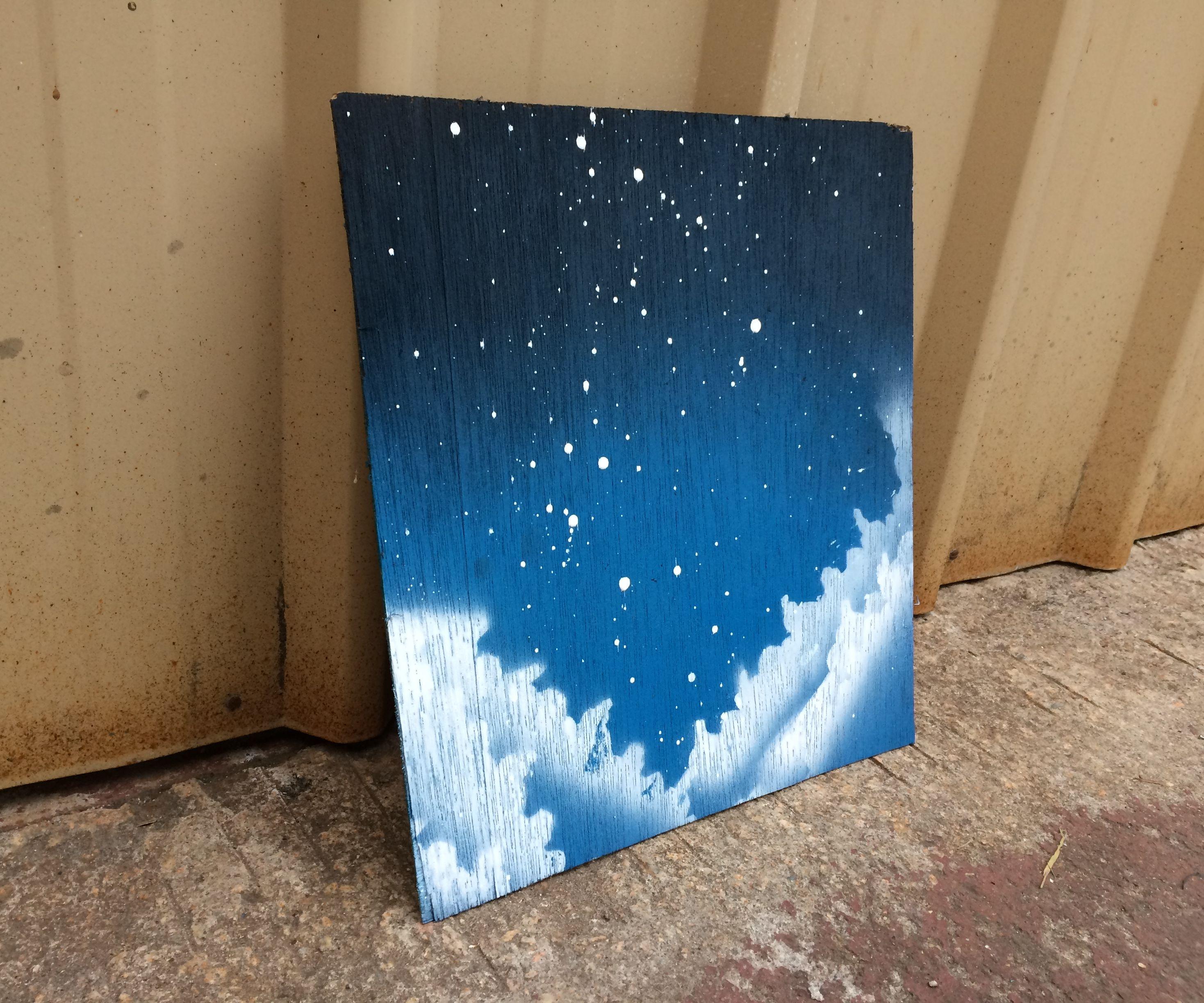 Cloudy Night Spray Paint Print