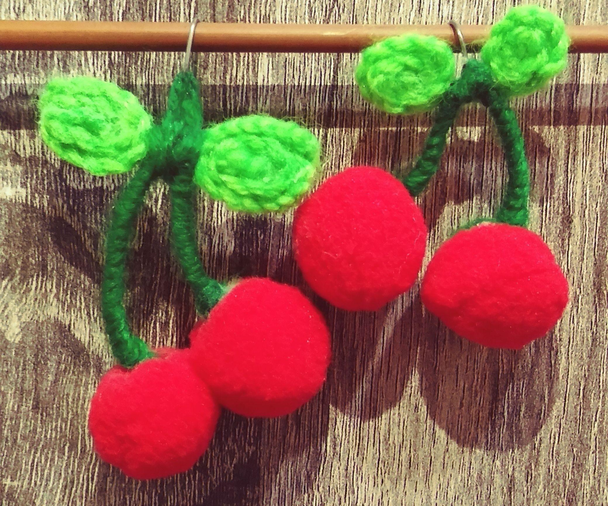 Asymmetric Cherry Earrings