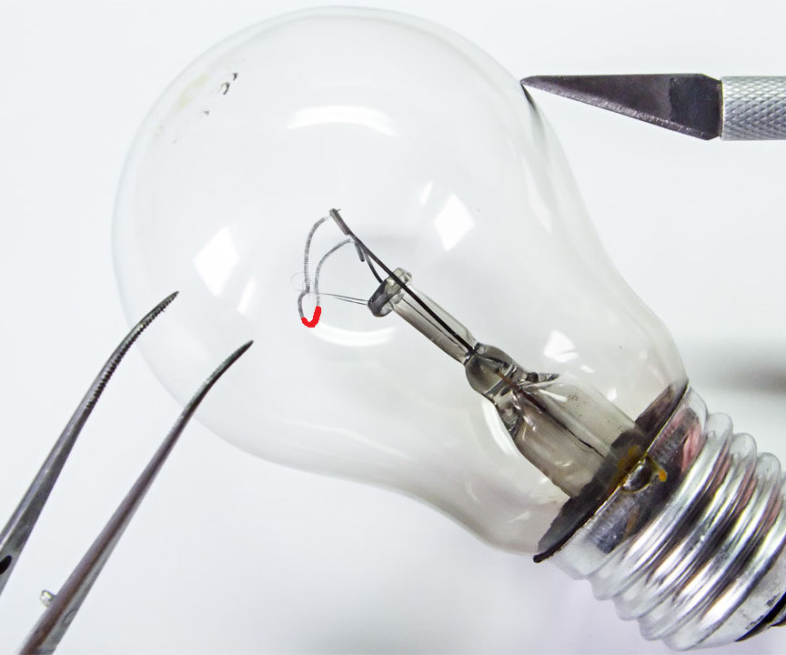 How to Repair an Incandescent Lamp