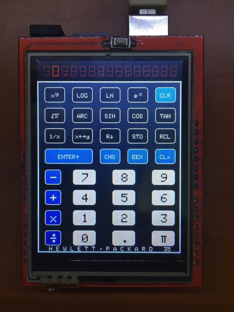 HP-35 Scientific Calculator Emulator With Arduino Uno