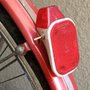 Solar powered vintage rear bycicle light