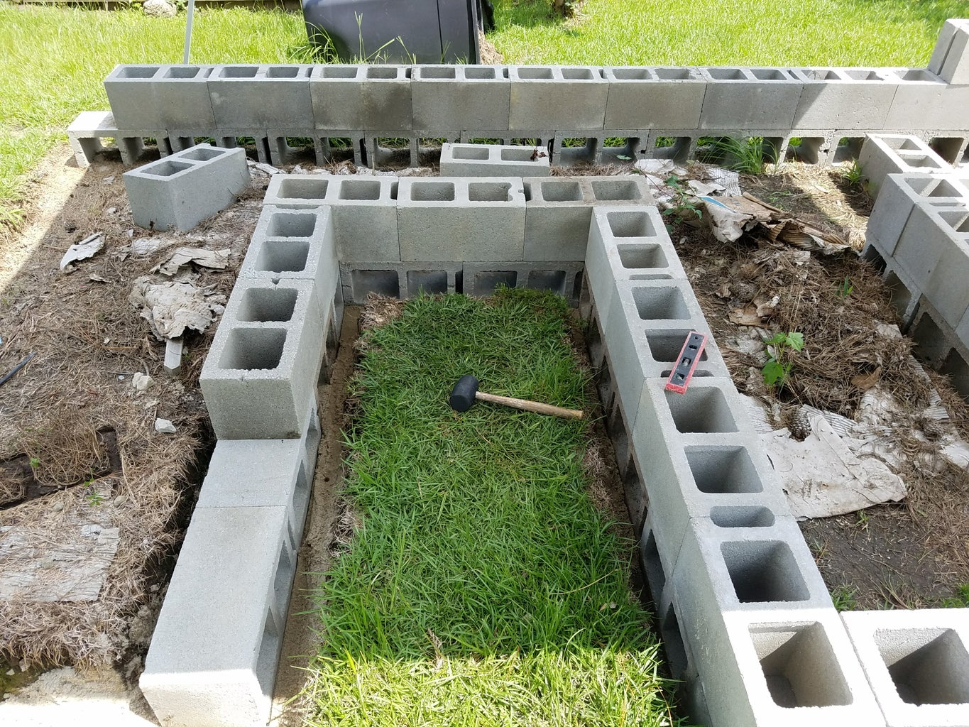 Fill & Level the Trench, Set the First Course