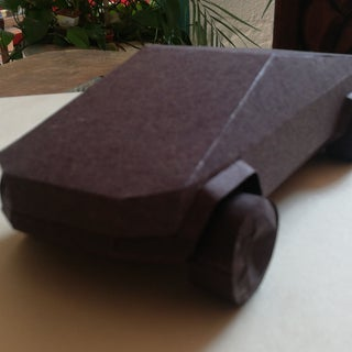 Tesla Cybertruck DIY Made of Paper! :)