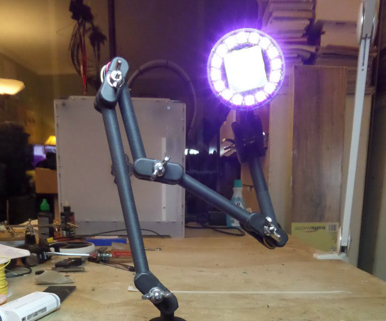 Auto-Off NeoPixel Articulated Reading Light