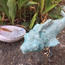 Concrete Garden Fish From Plastic Water Bottles