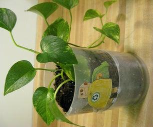 Convert Old CD Packaging Into a Flower Pot