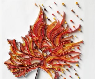 How to Make a Maple Leaf Paper Quilling