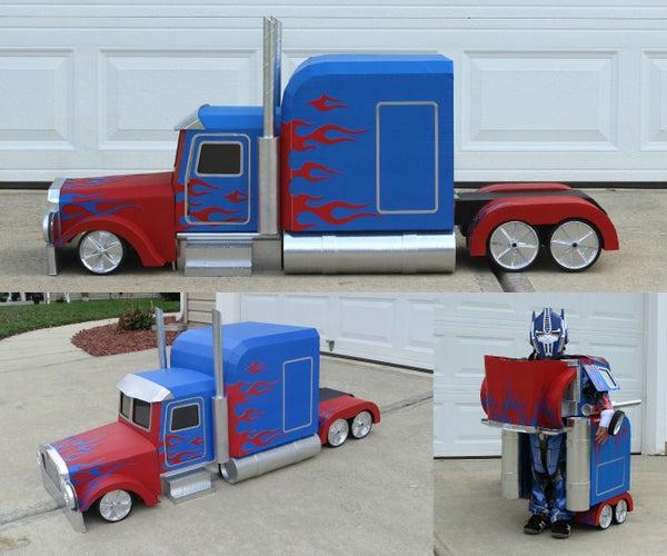 Transforming Optimus Prime Costume