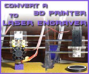 Convert a 3D PRINTER to LASER ENGRAVER   Under 40$