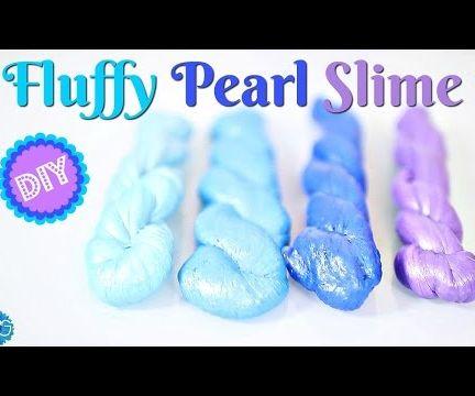 DIY Fluffy Pearl Slime - Poking Slime - No Borax! Baking soda method