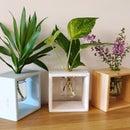 DIY Wooden Flowers Planter Box With Glass Jar | Hydroponics Vase Holder