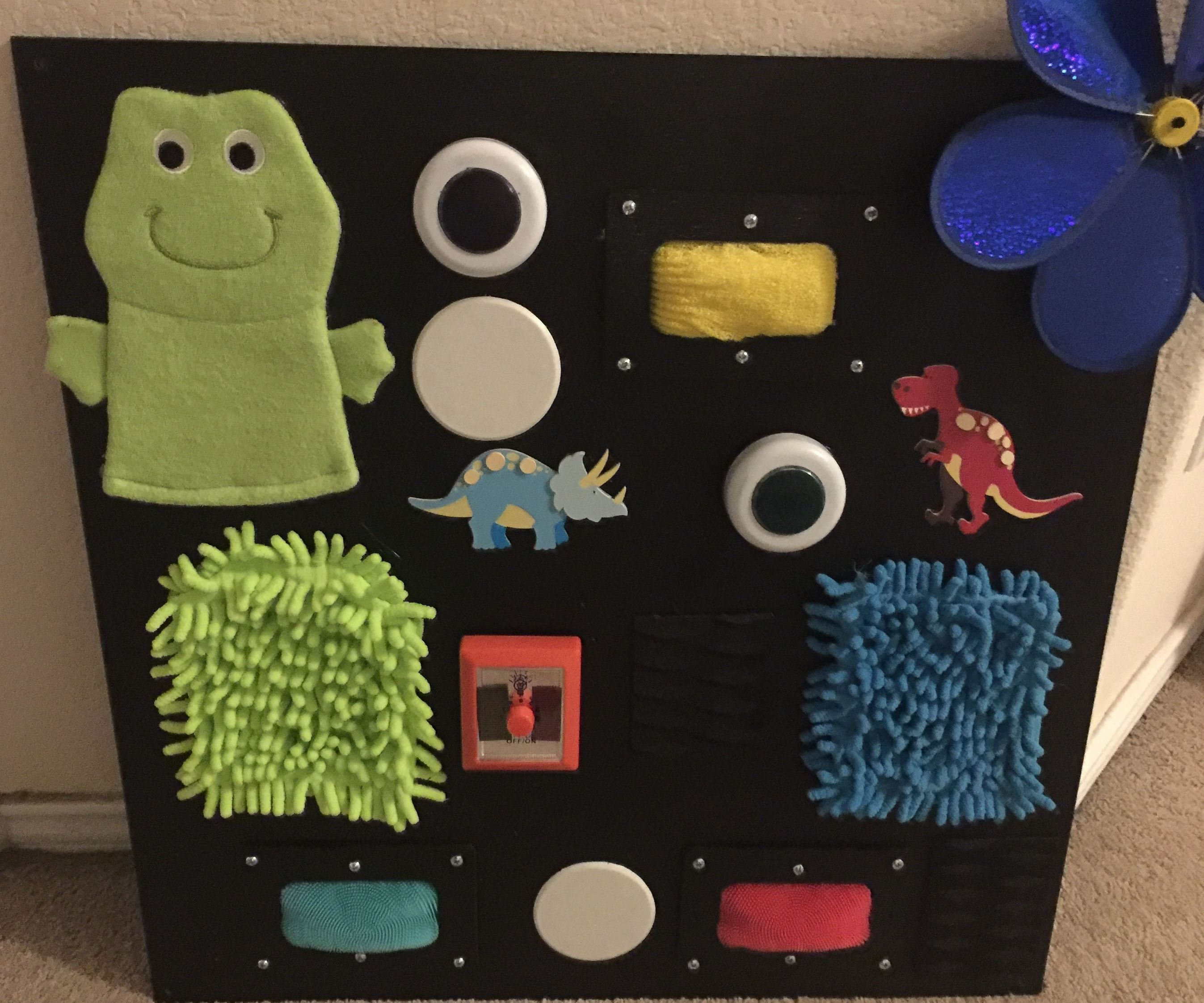 Baby Touch and Sight Sensory Board