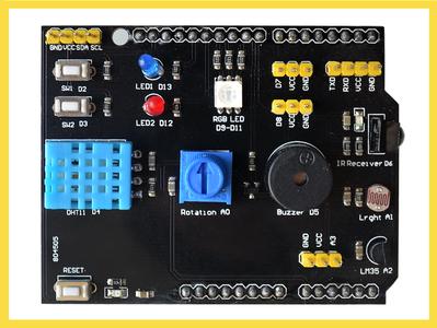 Multifunction Arduino Experimentation Shield