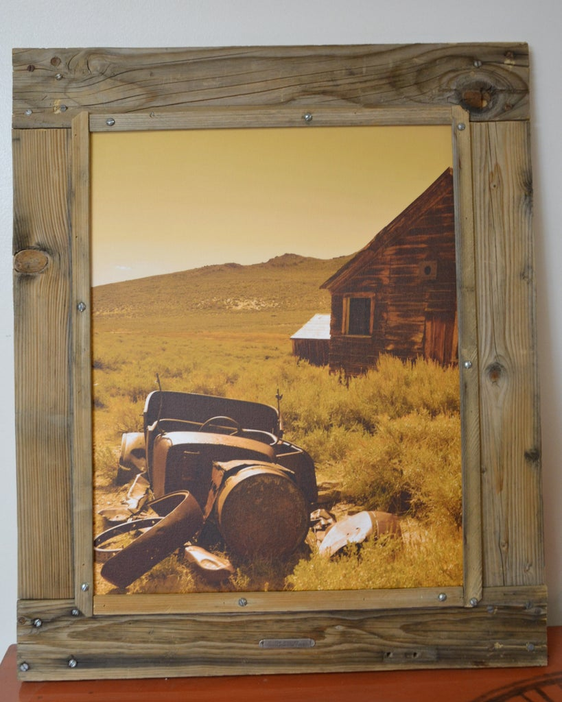 Frame Made From Old Screen Door