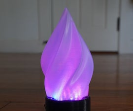 LED Flame With a Plasma Effect