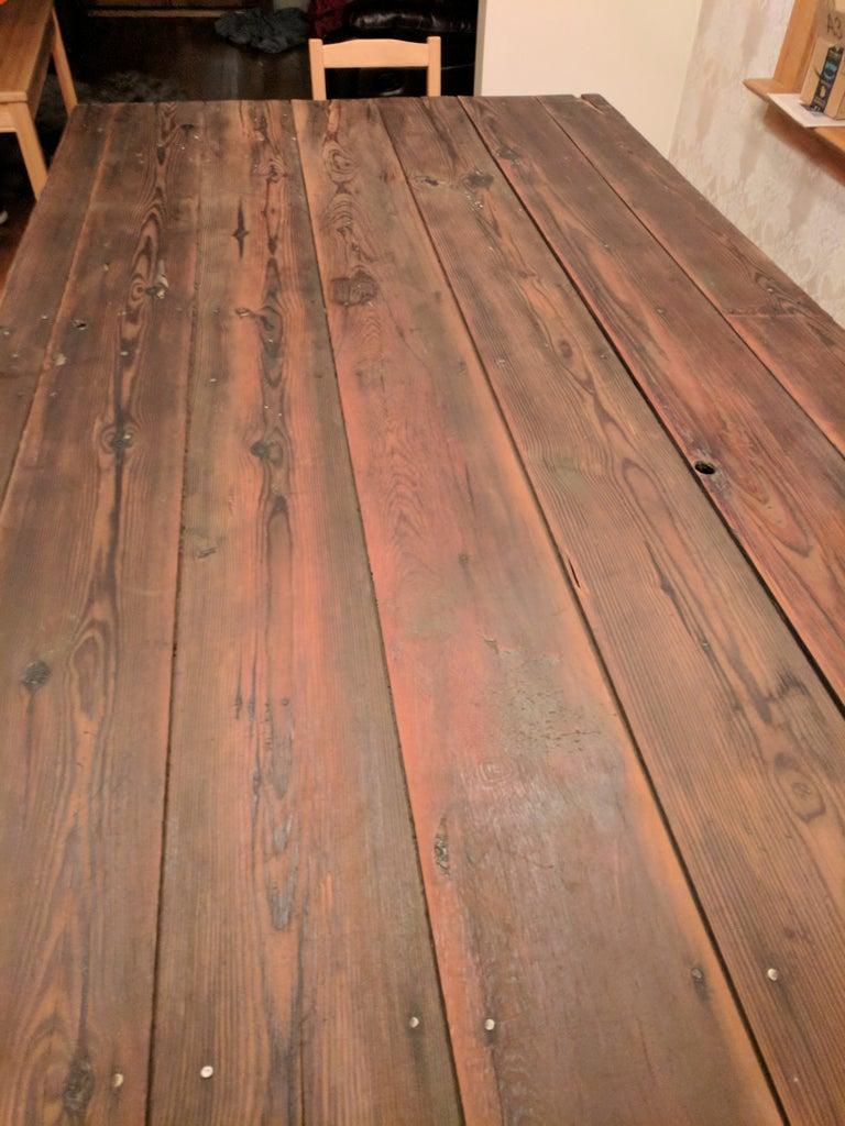 Reclaimed Barn Door Table