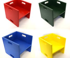 Plywood Kids' Cube Chairs