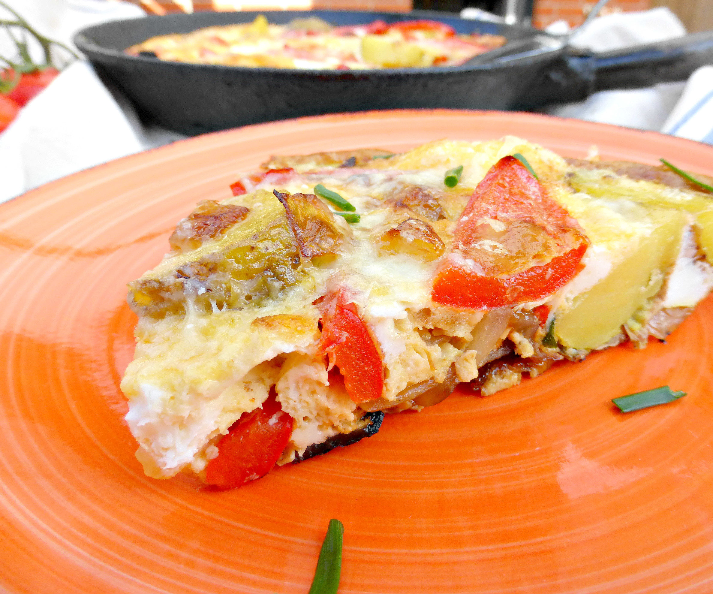 Spanish Style Omelette (with Red Peppers, Onion and Potatoes)