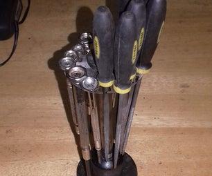 Suporte Metálico Para Ferramentas (limas) - Support for Tools Made With Scrap