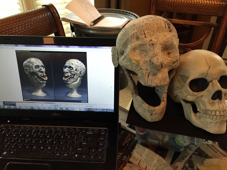 Creating the Skull Replica