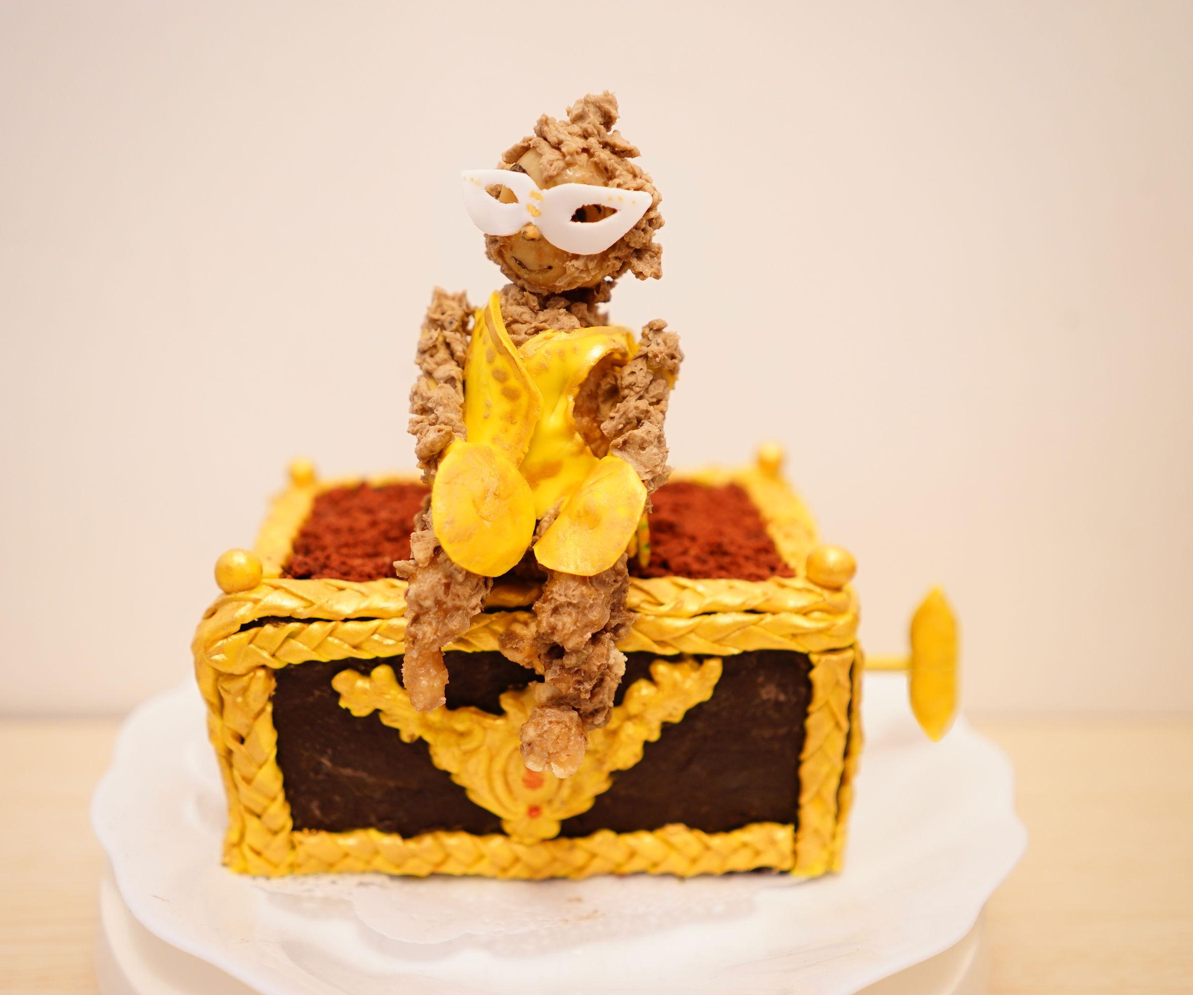The Phantom of the Opera Monkey Music Box Cake