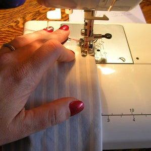 Practicing Straight Stitches - Learning to Sew