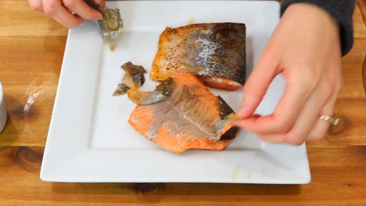 Peel Salmon Skin