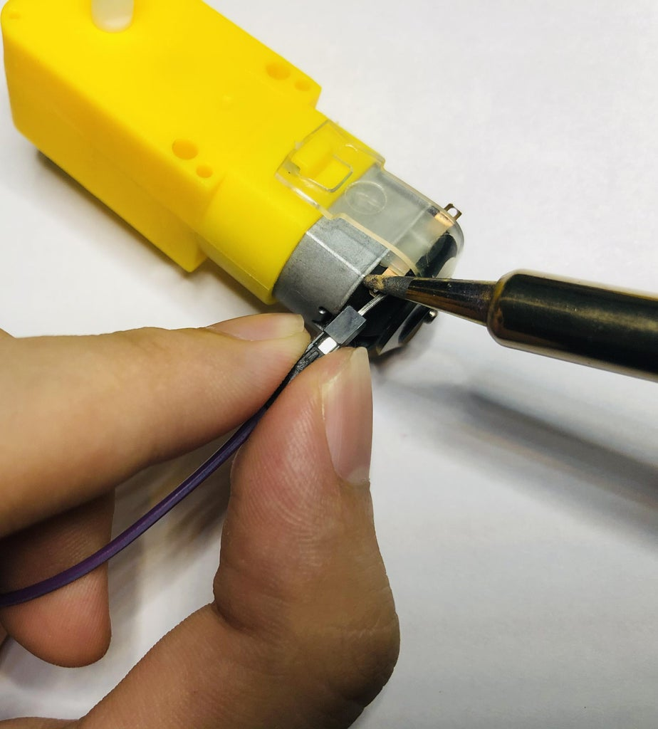Solder Jumpers to Terminal A&B of Each Motor