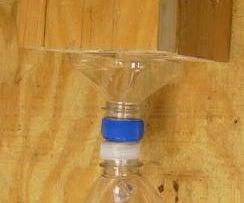 Attach Plastic Bottle Caps for Carpenter Bee Traps