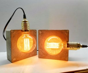 如何制作混凝土灯?