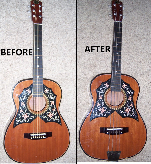 Acoustic Guitar to Acoustic Bass Conversion