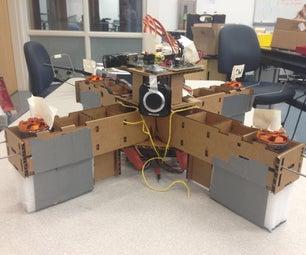Autonomous, Cardboard, Rasberry Pi Controlled QuadCopter