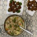 Oriental Style Meatballs (Without Meat)with Soupy Noodles